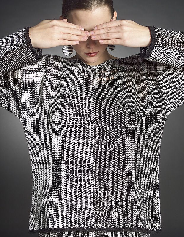 Hermosa Telar Patrón De Suéter De Punto Embellecimiento - Manta de ...