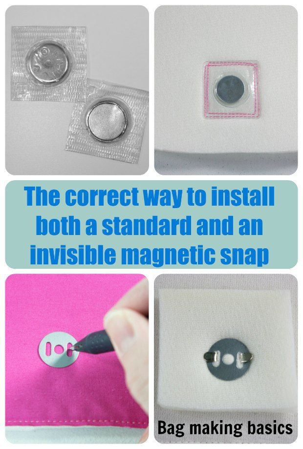 Learn How To Install Magnetic Clasps And Snaps The Right Way This Tutorial Shows You Both Invisible Regular