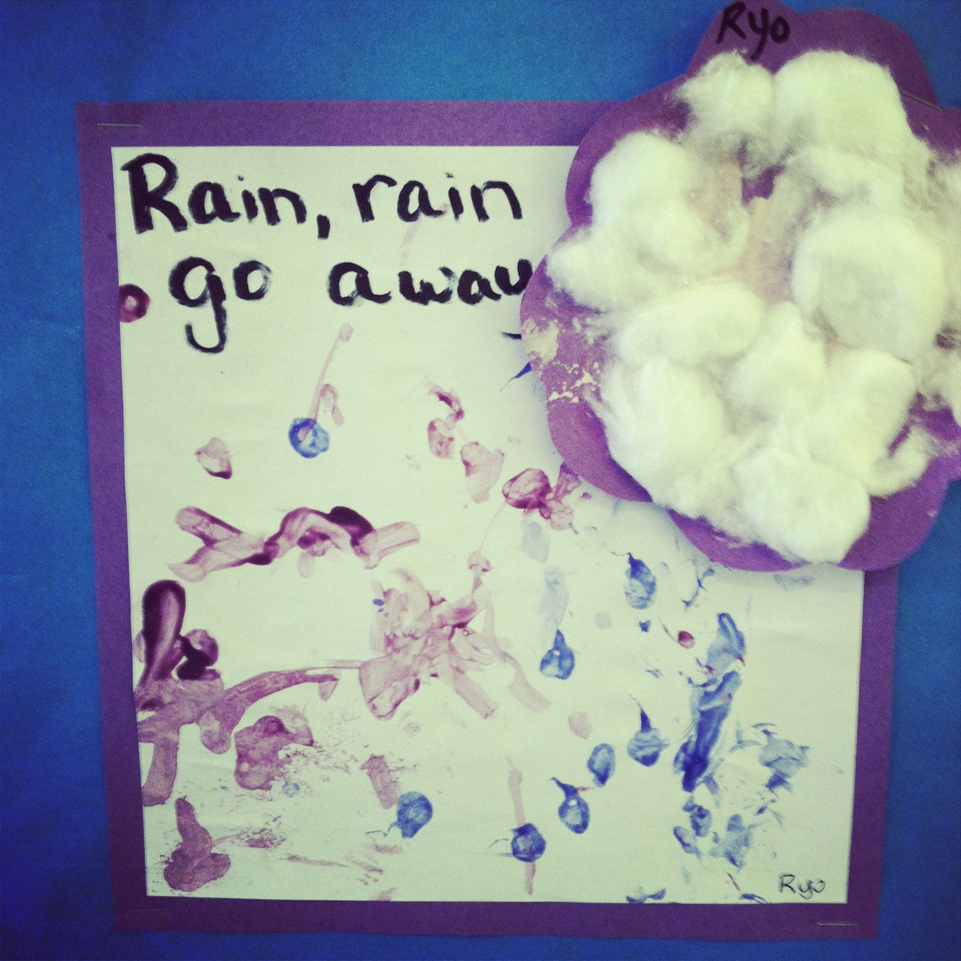 Rain Rain Go Away Q Tip Rain Amp Cotton Ball Clouds