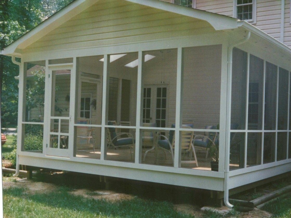 Popular Affordable Screened Porch Design With Gable Roof And Large Clear  Glass Paneled Windows Moreover Some Comfortable Indoor Living Sets As Well  As Ideas ...