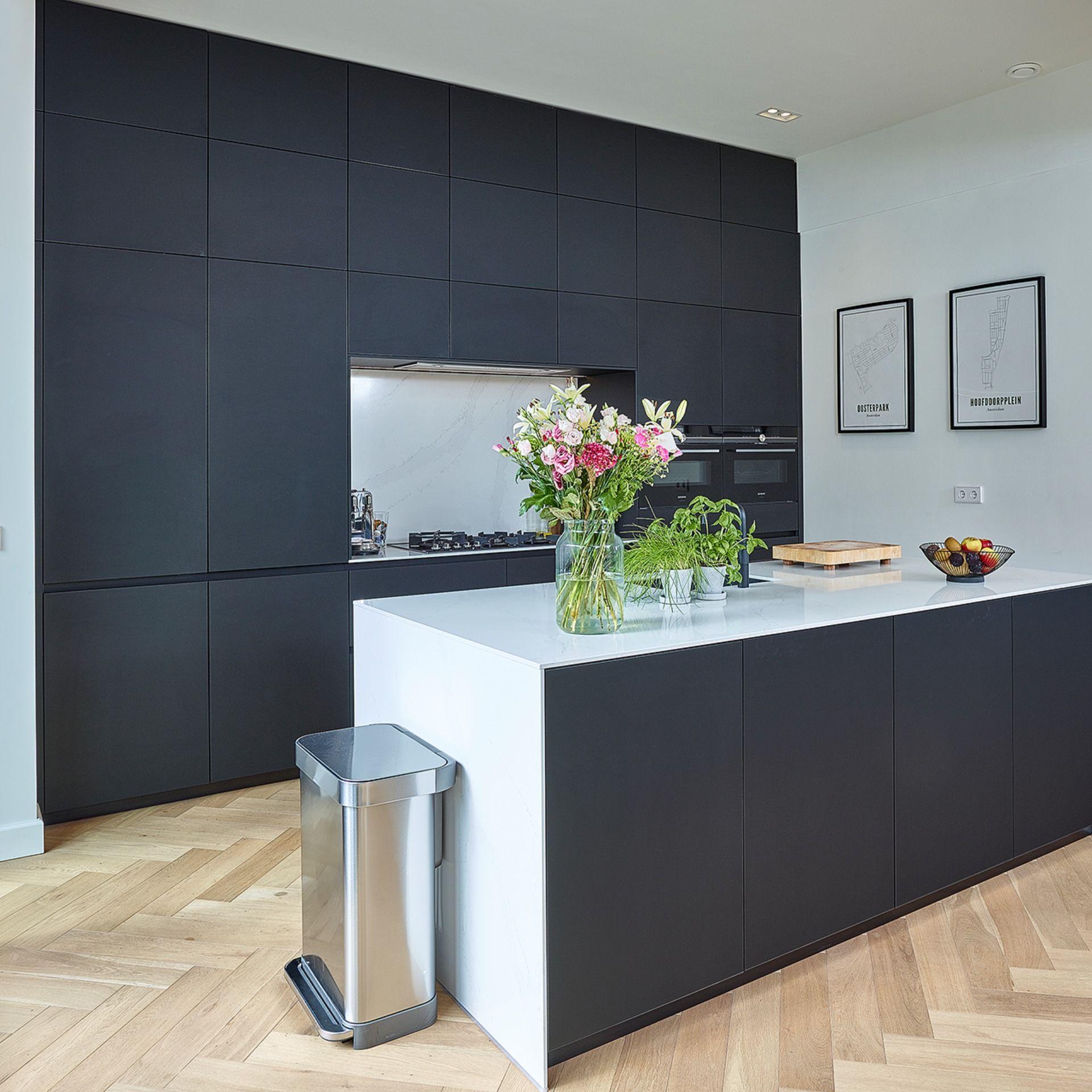 Küche Schwarz Weiß Gold