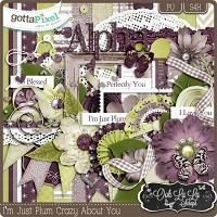 I'm Just Plum Crazy About You Digital Scrapbooking Kit $3.49