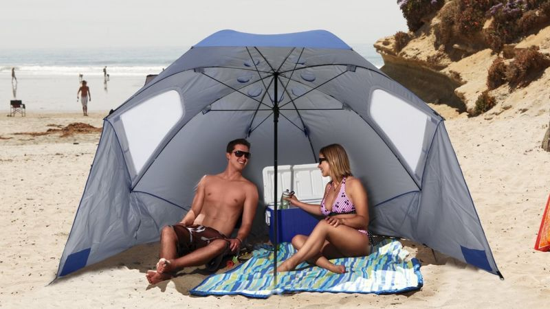 Sport-Brella is the easiest, cheapest way to carve out a little bit of shade and privacy at the beach, so it's no wonder over 10,000 of our readers have purchased one to find their happy place.