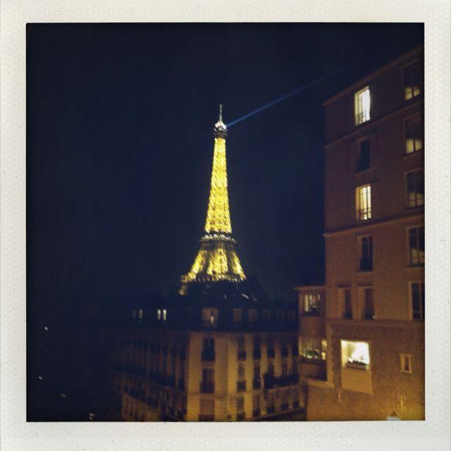 Beside Palais de Tokyo by night
