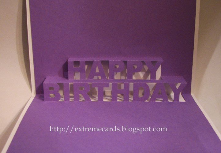 Happy Birthday Pop Up Card With Good Tutorial And Templates