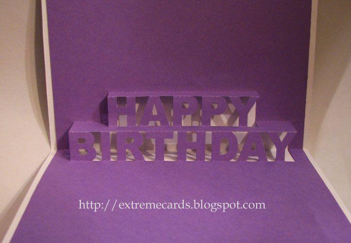 Happy Birthday Pop Up Card Pop Up Card Templates Birthday Card