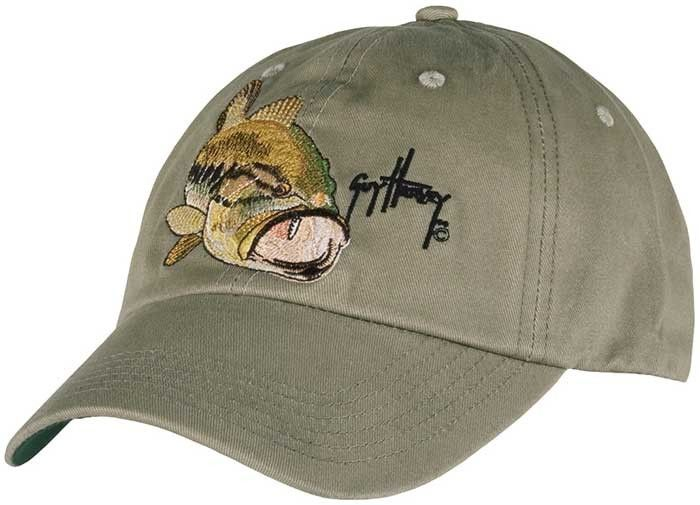 9b4adf3b7a4bf Guy Harvey Largemouth Bass Cotton Twill Hat in Camo or Natural