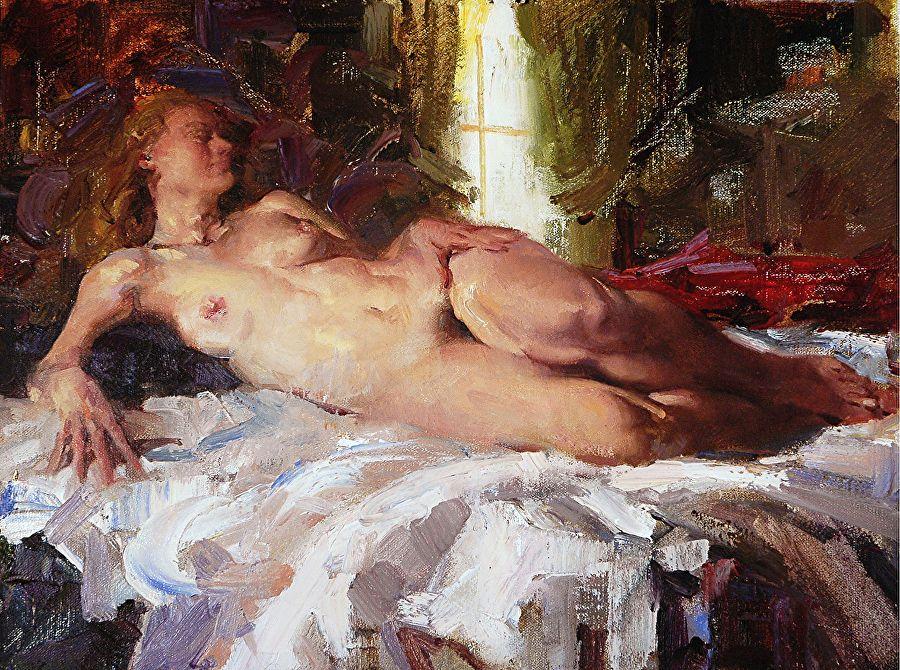 pinturas desnudas de bellas artes