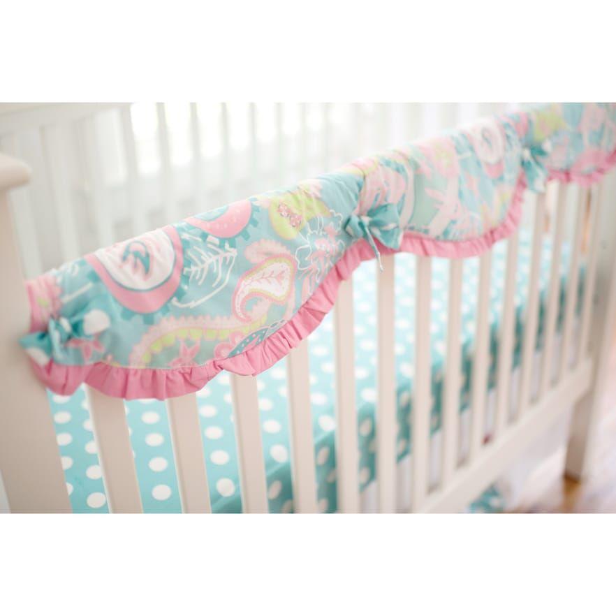 My Baby Sam Pixie Baby Aqua Crib Rail Cover