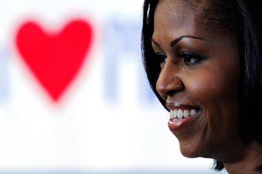 First lady Michelle Obama launched her Pinterest page with 12 images – the latest effort by Obama's reelection team to leverage her popularity as much as possible in Election 2012.