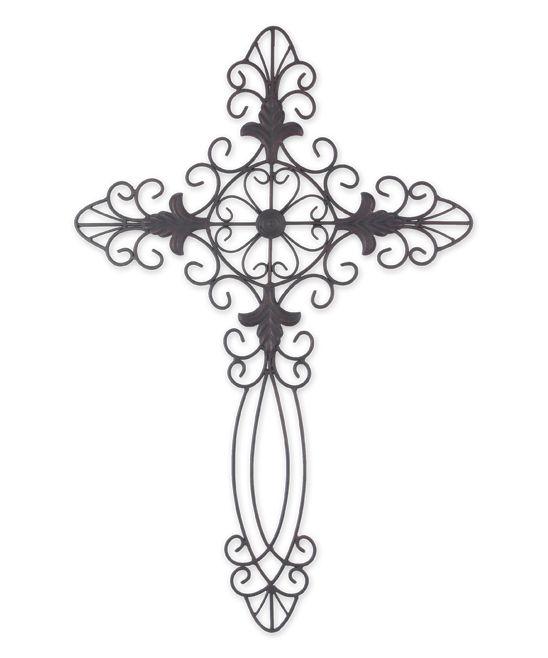 Metal Ornate Cross Wall Art