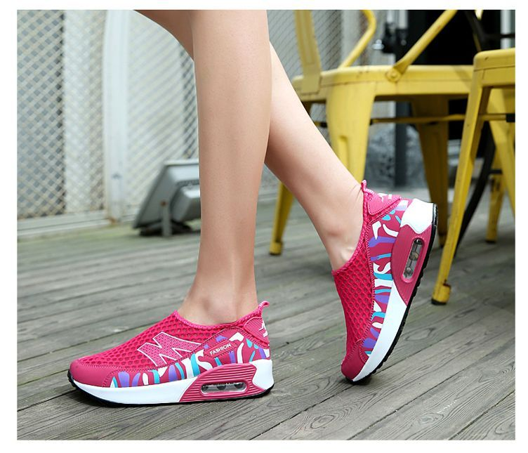 9088ab443b26 Height Increasing 2016 Summer Shoes Women s Casual Shoes Sport Fashion  Walking Shoes for Women Swing Wedges Shoes Breathable