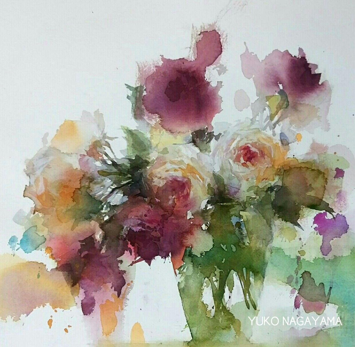Yuko Nagayama With Images Floral Watercolor Flower Painting