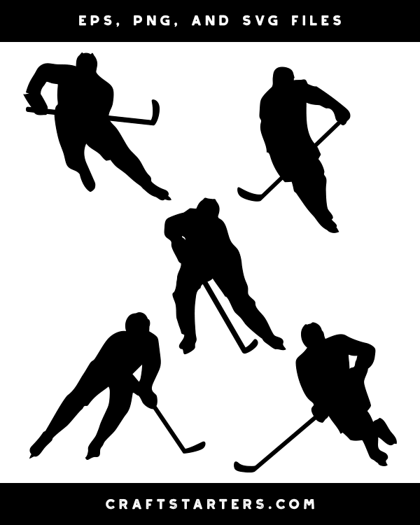 Skating Hockey Player Silhouette Clip Art Silhouette Clip Art Hockey Players Hockey