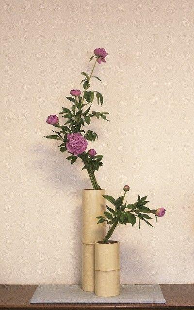 Ikebana :: arranged on bamboo