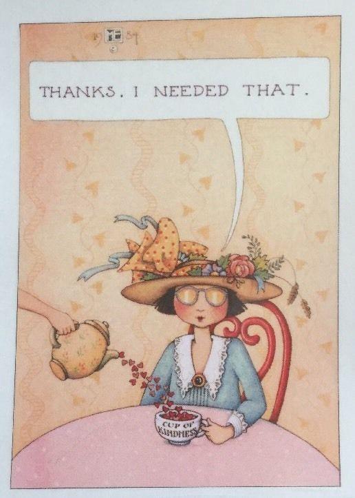 Thanks-Handmade Fridge Magnet-Mary Engelbreit Artwork