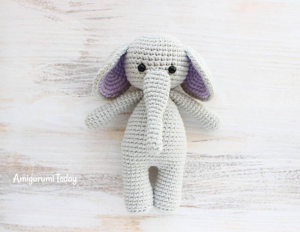 Amigurumi Easy Pattern Free : Cuddle me elephant crochet pattern free amigurumi patterns
