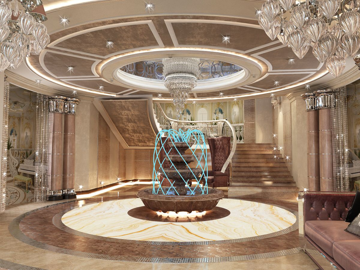 Mansion Interior Has The Style Of Art Deco Filled With Luxurious And Ornate Design Elements Making Mansion Interior My Home Design Beautiful Interior Design