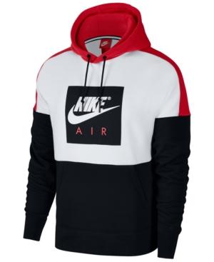 cd412765d681 Nike Men s Air Colorblocked Hoodie - White Red 2XL