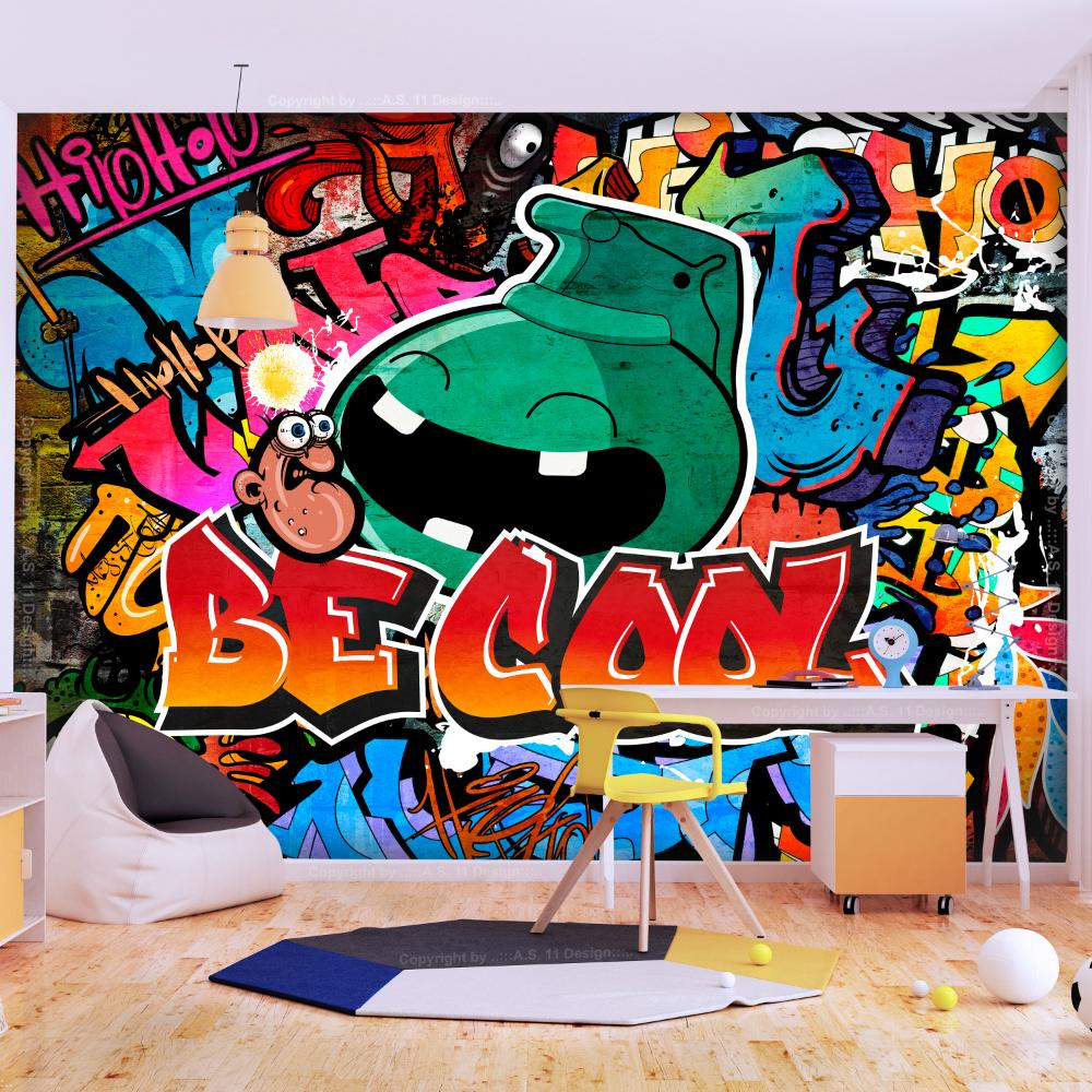 Photo of ARTGEIST Wandbild – Sei cool, coole Graffiti (mehrere Größen) – Wandbild – Str …