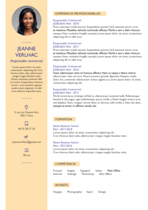 Modèles de CV Administratif Finance RH - Fisio - créateur ...