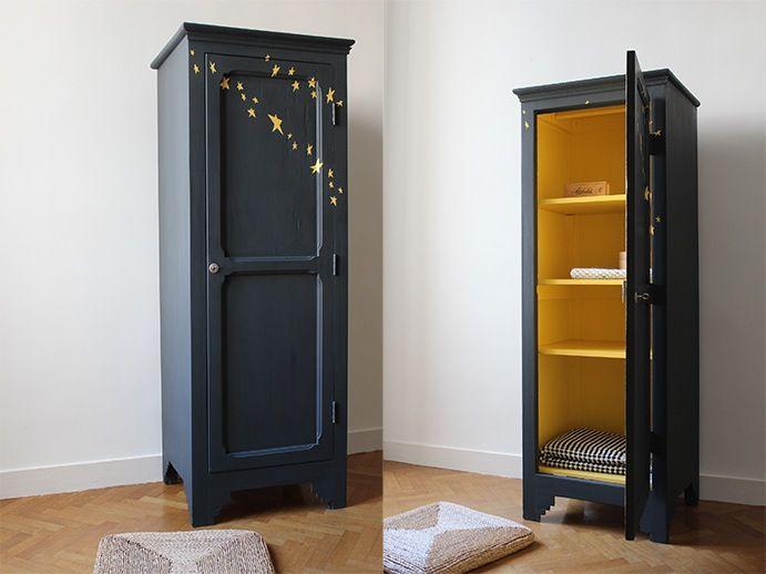 TRENDY LITTLE \u2014 Petite armoire vintage étoiles Wardrobes vintage
