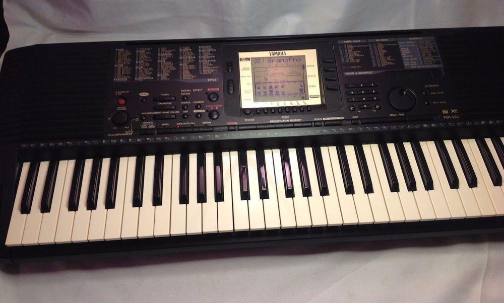 Yamaha Psr 530 Keyboard 61 Key Music Work Station W Original Power Cord Works The Originals Power Power Cord