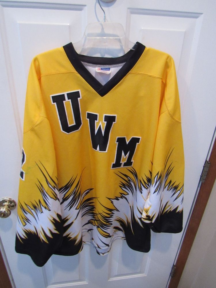 new product 7b87b b222f University Wisconsin Milwaukee NCAA Hockey Jersey men's size ...