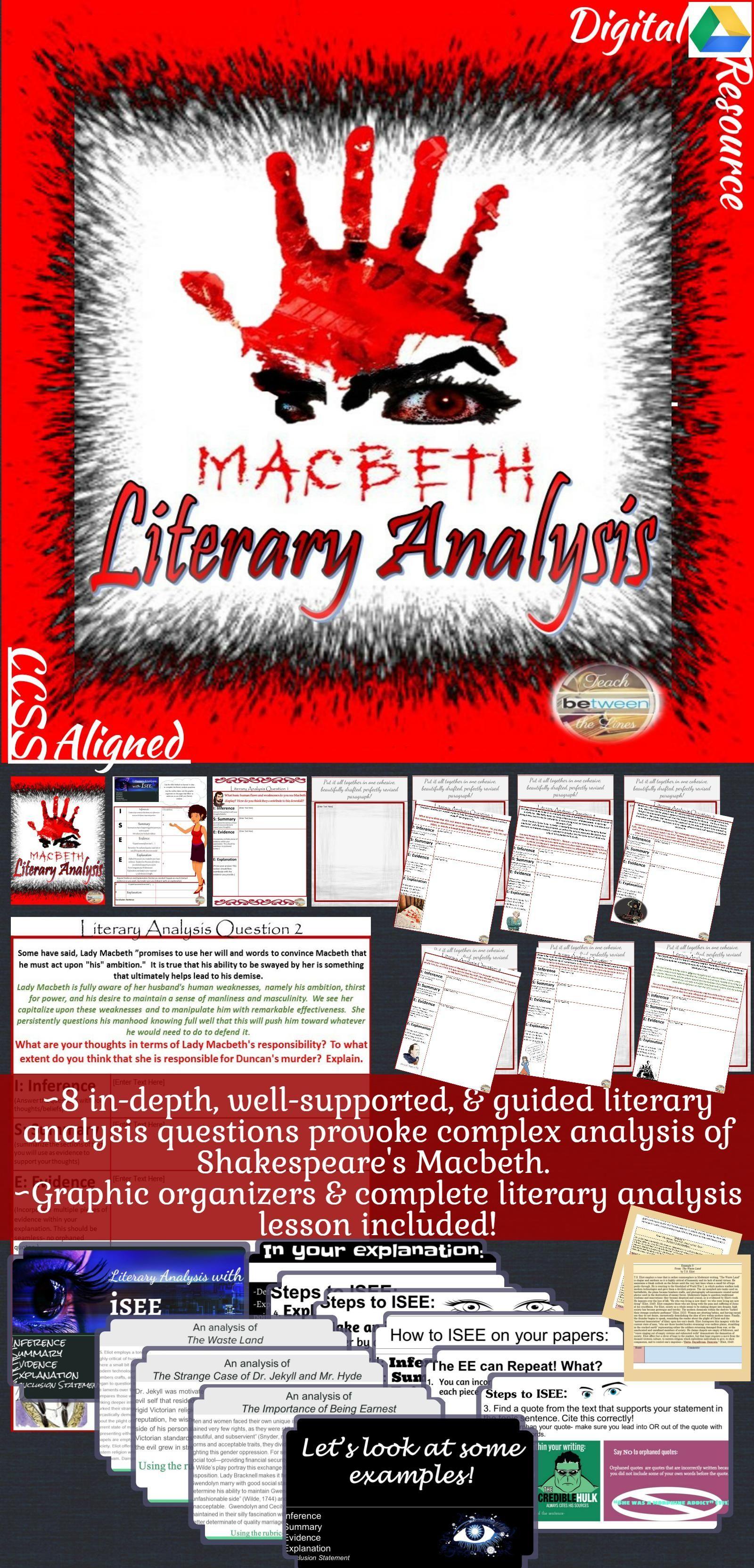 Shakespeare S Macbeth Literaryysis Complete Unit