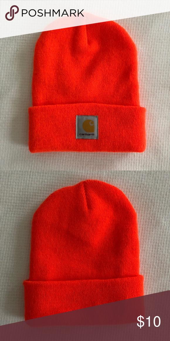 Carhartt Fluorescent Orange Knit Beanie Watch Cap Classic Carhartt beanie  in popular bright neon orange. 100 authentic. One size. New 8453120ec0c