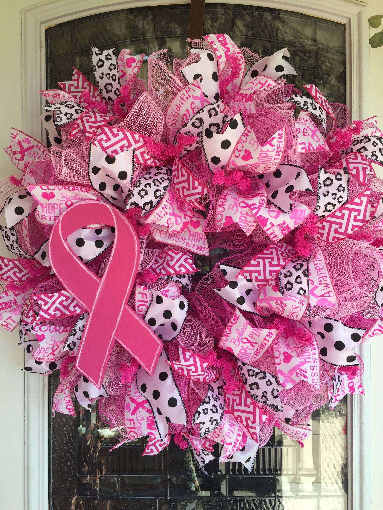 breast cancer wreath wreaths u0026 door hangers pinterest breast