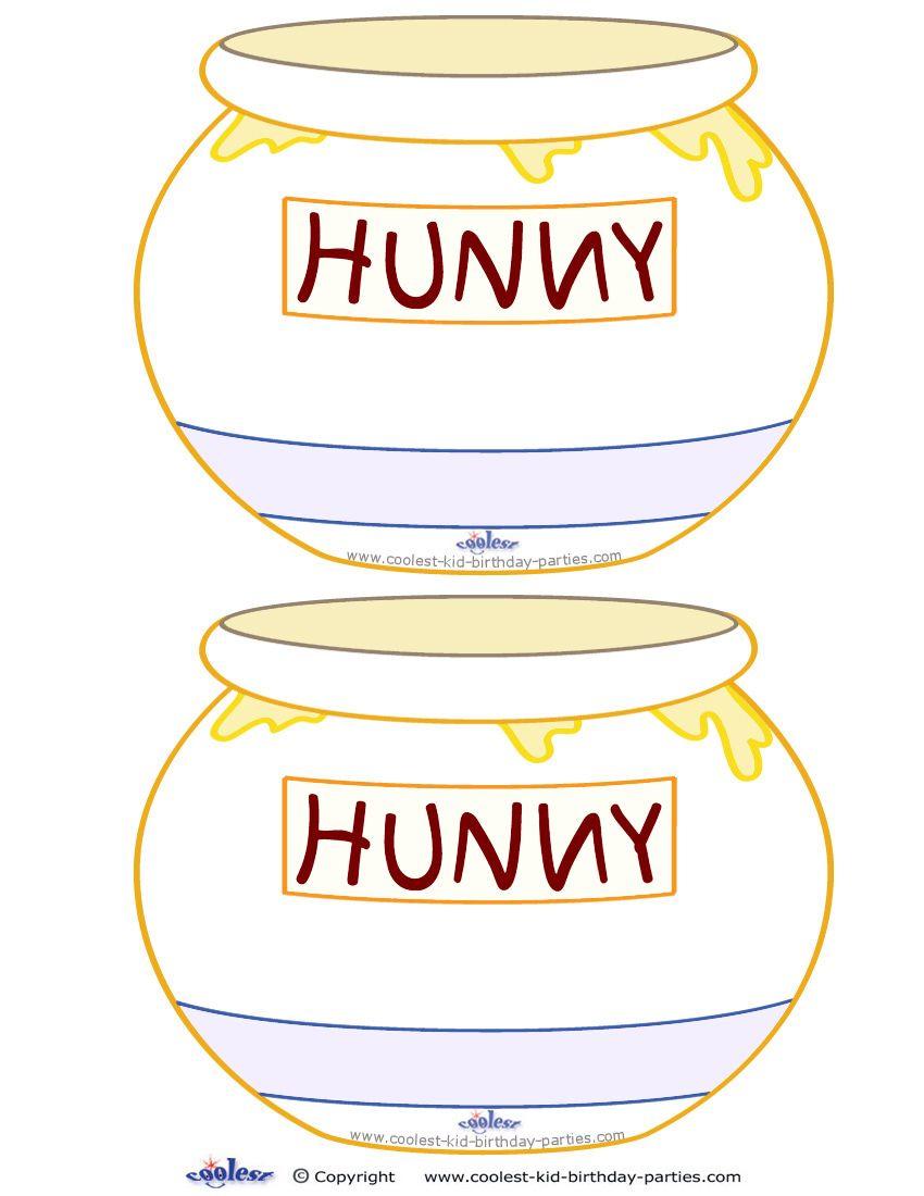 blank printable hunny pot invitations coolest free printables rh pinterest com Winnie the Pooh Honey Pot Coloring Pages From Winnie the Pooh Honey Pot