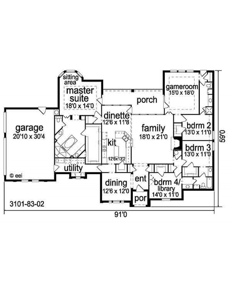 Luxury master bedroom floor plans  AmazingPlans House Plan pd  Traditional  House plans