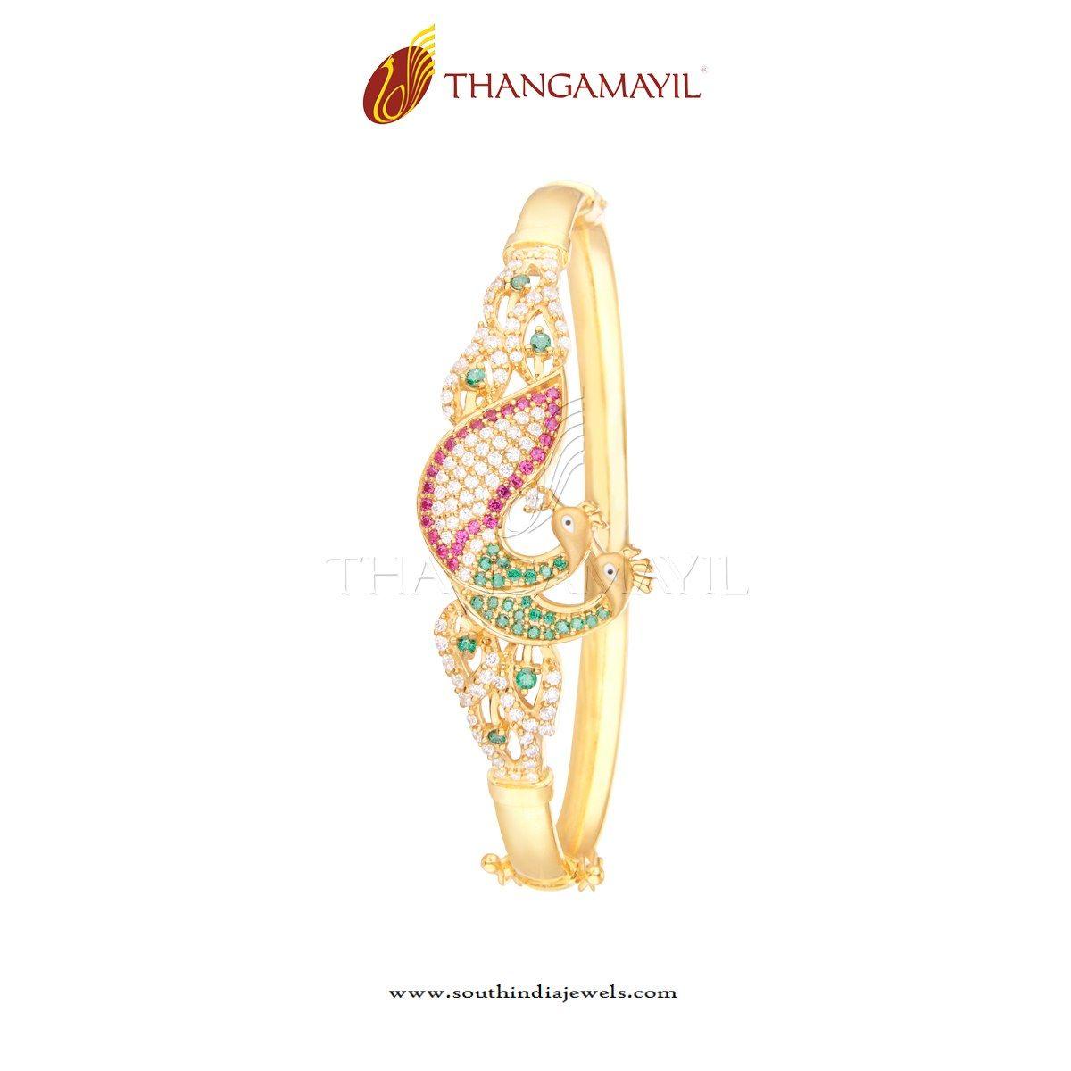 Gold CZ Stone Bracelet Design | Bracelet designs, Bracelets and Stone