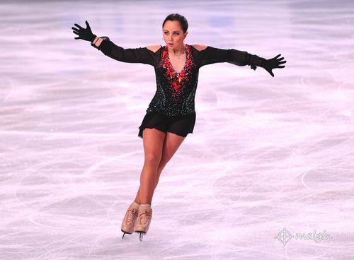 PARIS - NOVEMBER 17: Elizaveta TUKTAMYSHEVA of Russia performs at ladies free skating event at Eric Bompard Trophy on November 17, 2012 at Palais-Omnisports de Bercy, Paris, France. (by Andrey_Malgin)