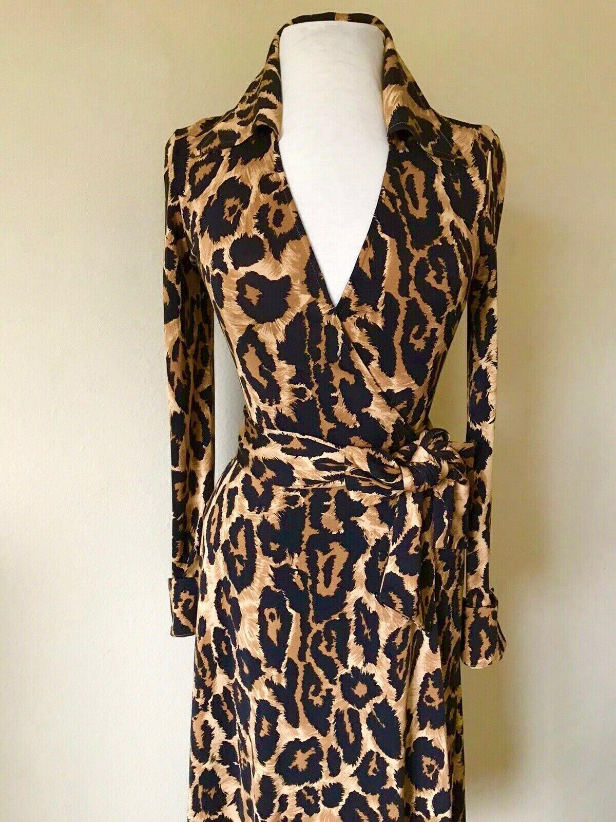 398 Diane Von Furstenberg Julie Vintage Classic Leopard Silk Wrap Dress 4 6 Silk Wrap Dresses Jersey Wrap Dress Maxi Gown Dress [ 1600 x 1200 Pixel ]