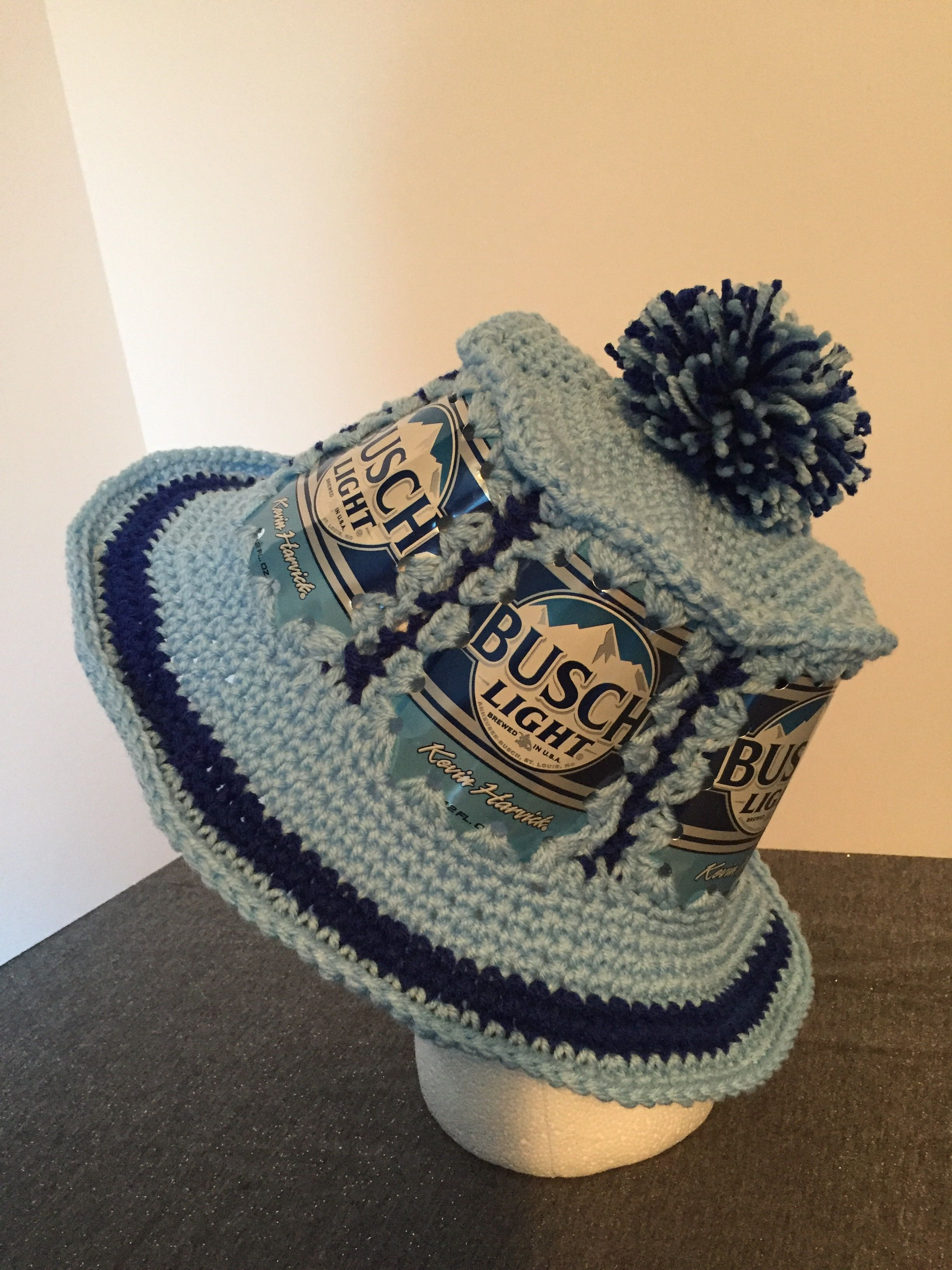 Kevin Harvick Busch Light beer can hat. | RemadeBarMaid | Pinterest