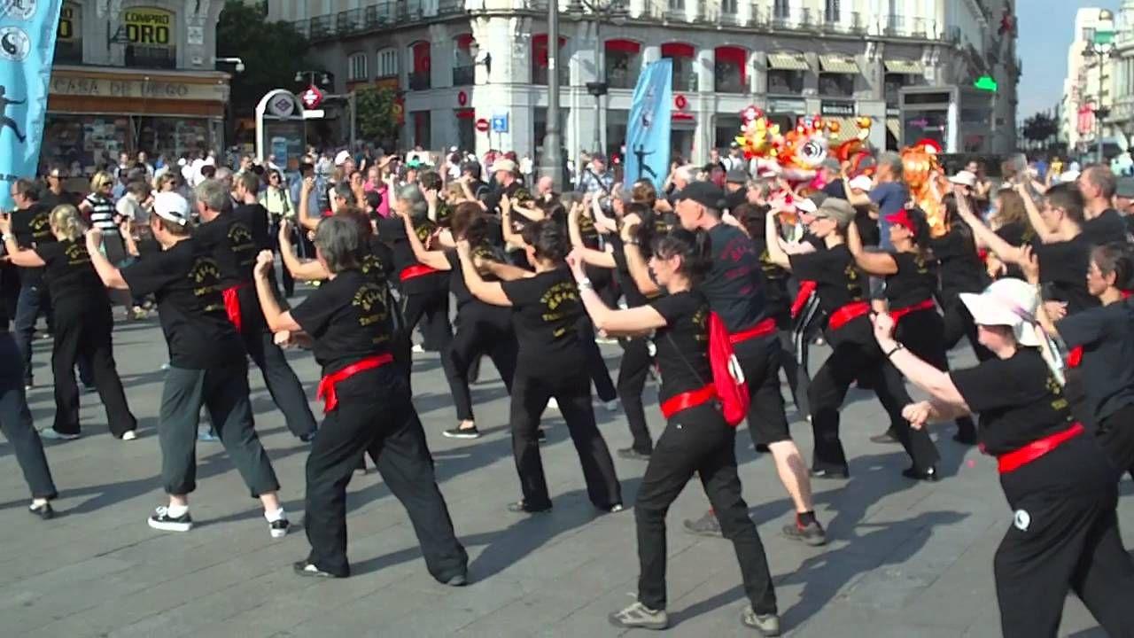 Taoist Tai Chi® arts Demo in Madrid - DEMOSTRACIÓN EN LA PUERTA DEL SOL
