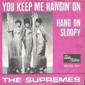 Supremes – You Keep Me Hangin' On (single cover art)
