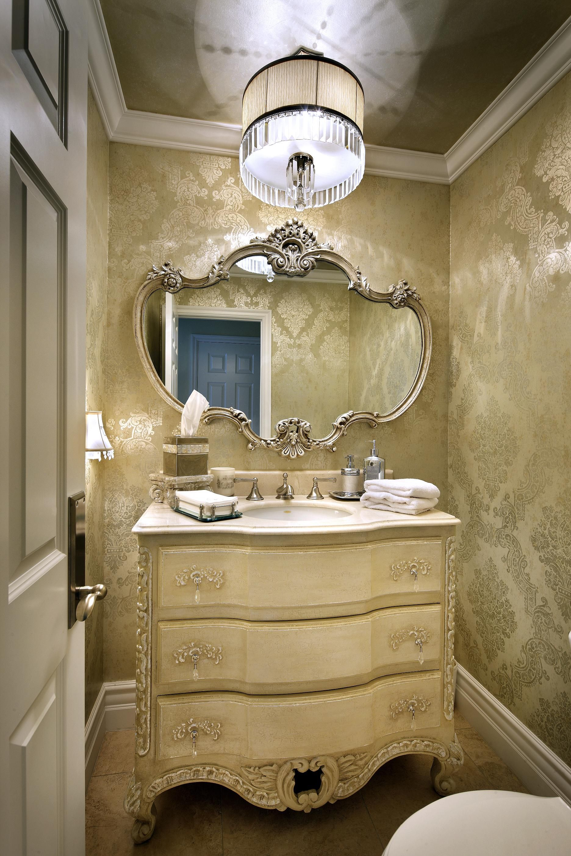 An Easy And Inexpensive Update To This Powder Room Included Changing The Faucet From Brass To