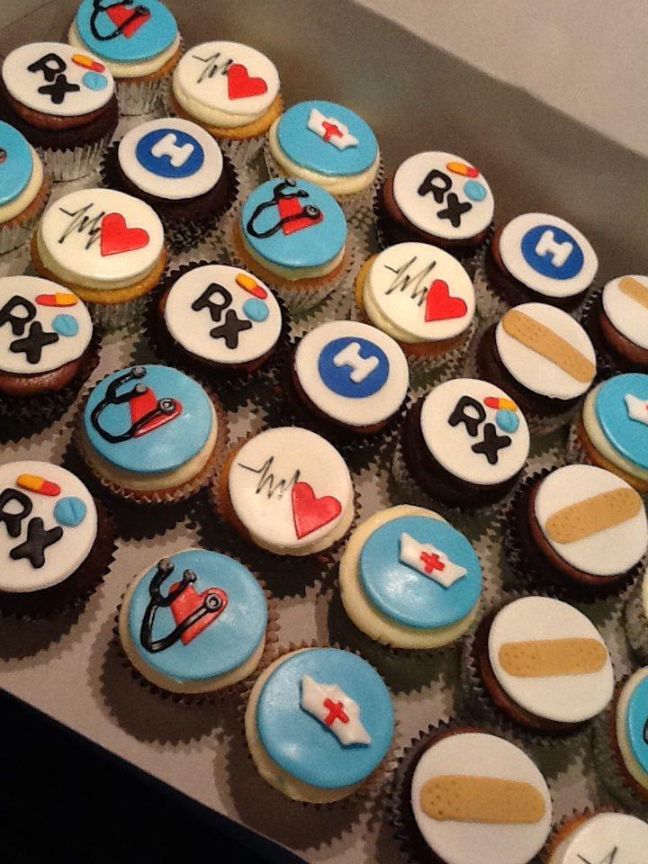 Nurse Themed Cupcakes Dr S Hospital Emergency Room Themed Desserts Desserts Themed Cupcakes