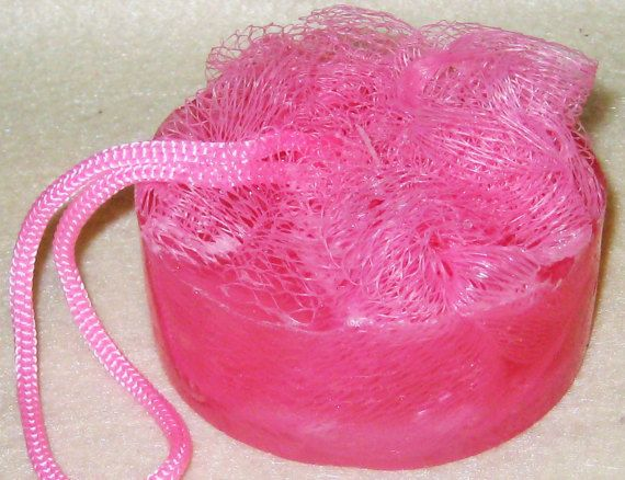 Pouf Soaps-Amber Blush scented Soap Accessories. by BailouBay