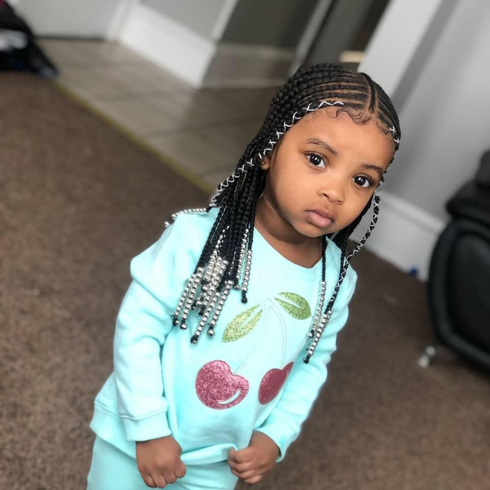 Cute Little Girl With Images Lil Girl Hairstyles Black Kids