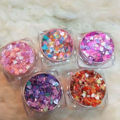 original sequins highlight eye shadow candy colorful heart