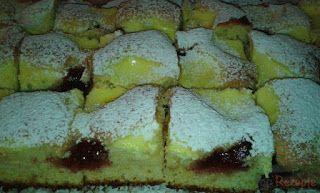 Versunkener Pflaumenmus-Quark-Kuchen - Rezeptgeschichten #czechfood