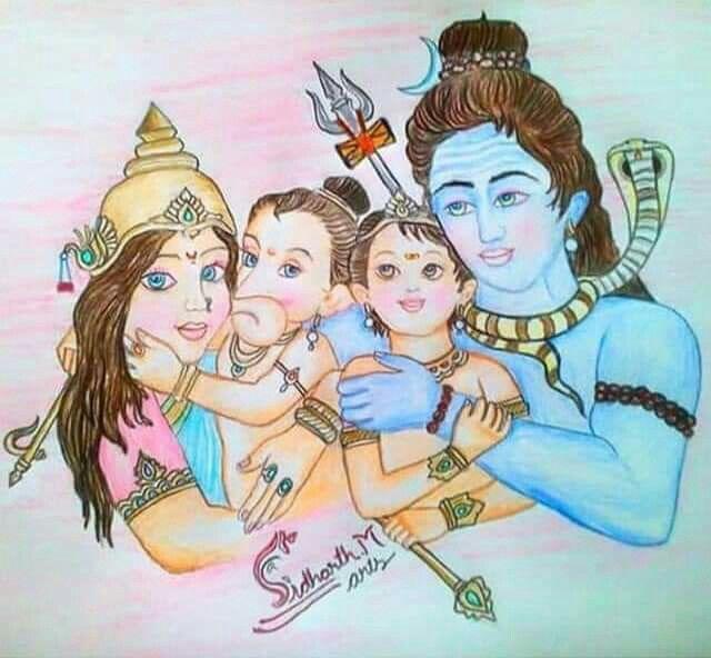 Shiv Parivar Bholenath Parvati Ganesh Kartikye Tu Hi Tu