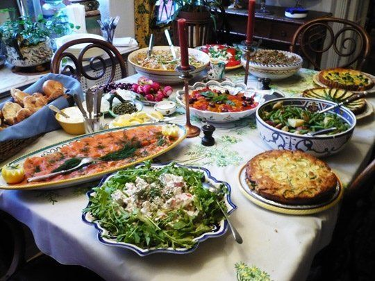 12 Tips for Arranging the Perfect Buffet Table | Party food buffet, Buffet food, Food displays