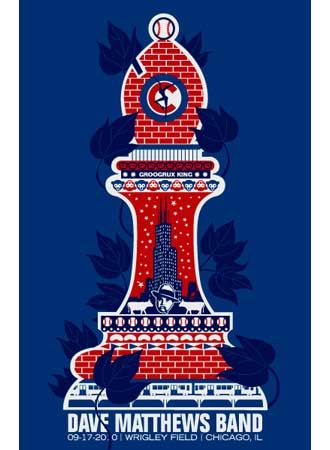 DMB WRIGLEY CHESS PIECE « Gig Poster Archive « Methane Studios..AMAZING Show, and cool poster!!!