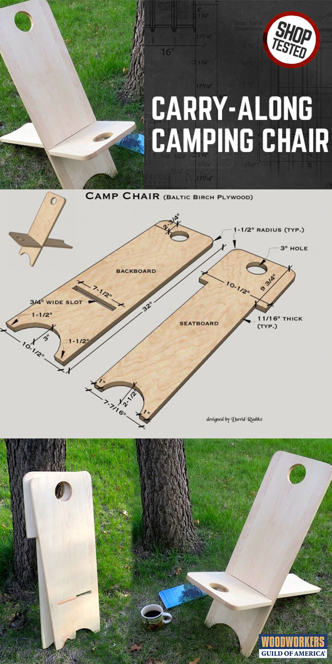 Carry Along Wooden Camping Chair In 2019 Woodworking Plans