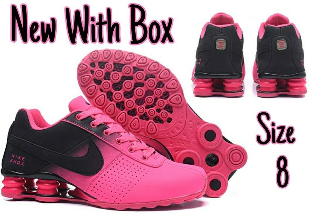 new arrival 7fc5d cc498 ... order nike shox deliver black pink womens size 8 brand new with box  317547 015 ebay